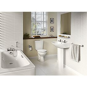 Ideal Standard Sandringham 21 Contemporary Single Ended Bathroom Suite with Acrylic Bath