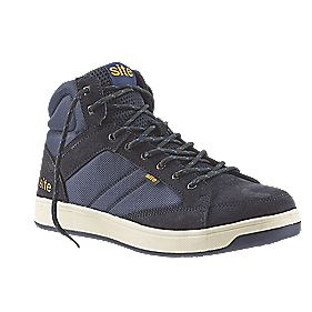 Site Sapphire Hi-Top Safety Trainers Navy Size 8