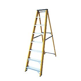 Lyte GFBB8 Swingback Builders Step Ladder Fibreglass 8-Tread 1.7m