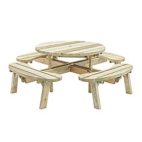 Grange Round Garden Picnic Table 200 x 200 x 81mm