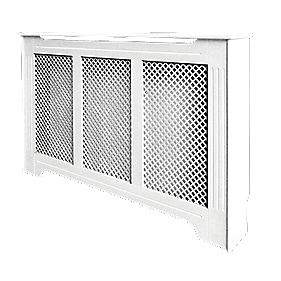Victorian Radiator Cabinet Large White 1420 x 210 x 918mm