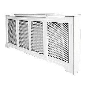 Victorian Adjustable Radiator Cabinet White 1425-1995 x 235 x 936mm