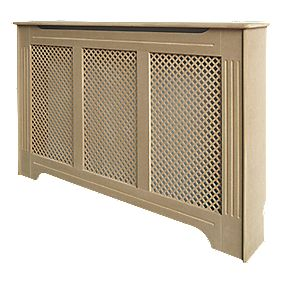 Unbranded Victorian MDF Radiator Cabinet Large Unfinished 1420 x 210 x 918mm