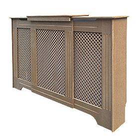 Victorian MDF Adjustable Radiator Cabinet Unfinished 970-1420 x 235 x 936mm