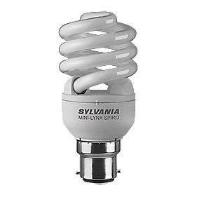 Sylvania Spiral Compact Fluorescent Lamp BC 15W