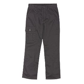 "Site Setter Service Trousers Black 36"" W 32"" L"