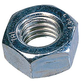 Easyfix Hex Nuts BZP Steel M6 Pack of 1000