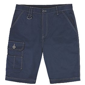 "Site Setter Service Shorts Navy 38"" W"