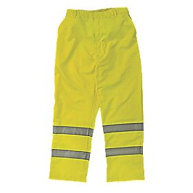 "Elasticated Waist Hi-Vis Yellow Large 36-38"" W 32"" L"