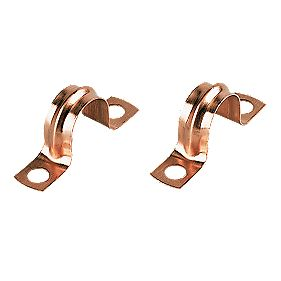 Copper Pipe Clips 22mm Pack of 10