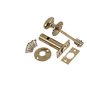 Bathroom Lock Polished Brass