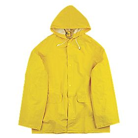"Economy Waterproof 2-Piece Rain Suit Yellow X Lge 46-48"" Chest"