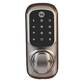 Yale YD-01-SN Keyless Digital Medium Duty Push Button Lock Mortice Sat. Nkl