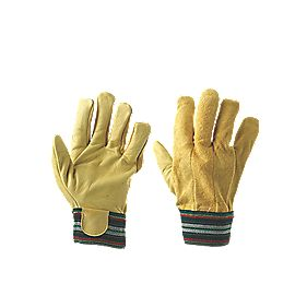 Mechanical Hazard Thermal Gloves Yellow Large
