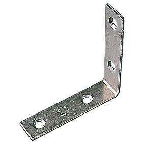 Corner Braces Zinc Plated 64 x 64 x 16.5mm Pack of 10