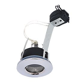 Halolite Fixed Round Polished Chrome 12V Low Voltage Bathroom Downlight