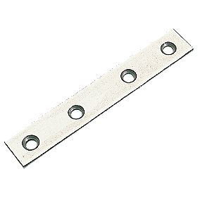 Mending Plates Zinc Plated 75.5 x 16mm Pack of 10