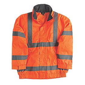 "Site Hi-Vis Lightweight Bomber Jacket Orange Large 43"" Chest"