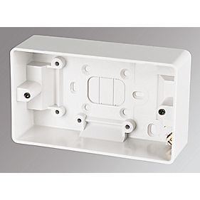 MK 2-Gang Surface Pattress Box White 30mm
