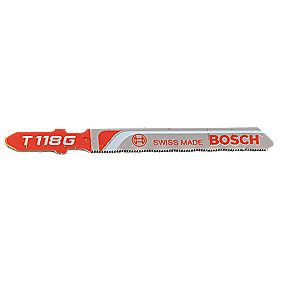 Bosch Metal Jigsaw Blades Bayonet T118G Pack of 5