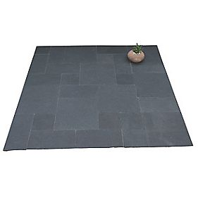 Natural Stone Whitchurch Black Lime Sandstone Patio Kit 5.76m²