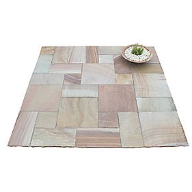 Natural Stone Whitchurch Camel Sandstone Patio Kit 5.76m²