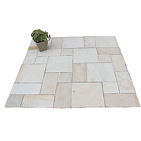 Natural Stone Whitchurch Mint Sandstone Patio Kit 5.76m²