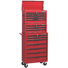 Hilka Pro-Craft 19 Drawer Heavy Duty Tool Chest & Trolley