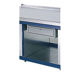 Single Drawer Extra for Heavy Duty Steep Top Workbench Grey