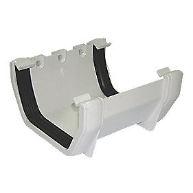 Square Line Union Bracket 114mm White