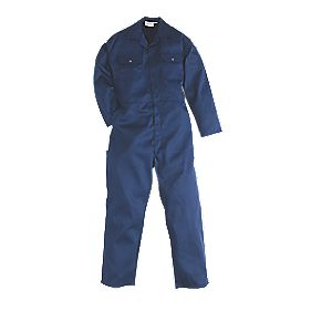 "Work Safe Traditional Polycotton Boiler Suit Navy Large 44"" Chest 31"" L"
