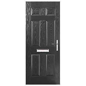 Portico Birkdale Composite Front Door Black LH 880 x 2055mm