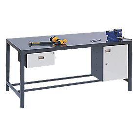 Heavy Duty Steel Plate Workbench 840 x 1800 x 900