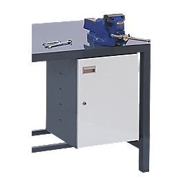 Storage Cupboard Extra for Heavy Duty Steel Plate Workbench