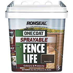 Ronseal Sprayable One Coat Fencelife Medium Oak 5Ltr