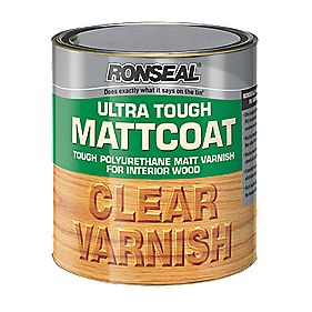 Ronseal Ultra Tough MattCoat Clear Varnish 2.5Ltr