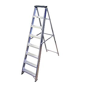 Lyte BSBB8 Swingback Builders Step Ladder Aluminium 8-Tread