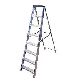 Lyte BSBB8 Swingback Builders Step Ladder Aluminium 8-Tread 1.7m