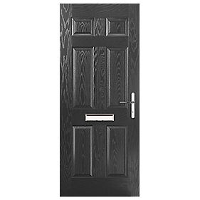 Portico Birkdale Composite Front Door Black LH 920 x 2055mm