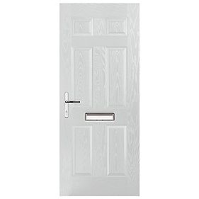 Portico Birkdale Composite Front Door White RH 880 x 2055mm