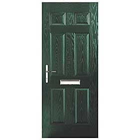 Portico Birkdale Composite Front Door Green RH 880 x 2055mm