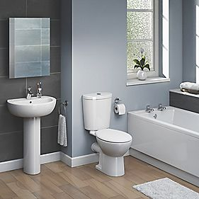 Ashley Modern Bathroom Suite with Acrylic Bath