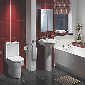 Walker Modern Bathroom Suite with Acrylic Bath
