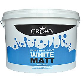 Crown Matt Emulsion Brilliant White 10Ltr