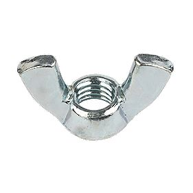 Wing Nuts BZP Steel M6 Pack of 10