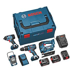 Bosch Professional 0615990FS0 18V 4Ah Li-Ion Cordless 4-Piece Kit