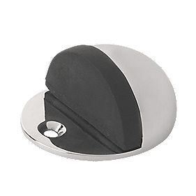 Oval Oval Door Stop Polished Chrome Pack of 2