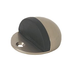 Oval Door Stops Satin Nickel Pack of 2