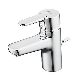 Ideal Standard Concept Blue Mono Basin Mixer Bathroom Tap with Pop-Up Waste