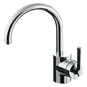 Ideal Standard Silver Basin Mixer Bathroom Tap with Pop-Up Waste